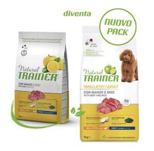 Croccantini Per Cani Natural Trainer Adult Mini Small&Toy con Manzo e Riso 7 Kg