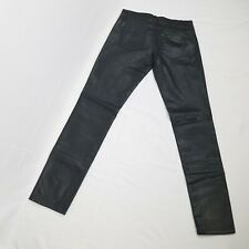 66bbd063e81 Benetton womens coated skinny jeans size 28 w black faux leather 31 inseam