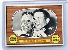 """1967 TOPPS BASEBALL #155 """"THE WINNERS CELEBRATE"""", BALTIMORE ORIOLES, 082017"""