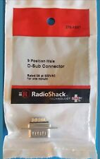 RadioShack 9 Position Male D Sub Connector 2761537 *FREE SHIPPING*
