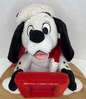 "101 Dalmatians Christmas Plush Picture Frame 2000 Disney Store 3.5"" X 4"" Frame"
