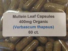 Mullein Leaf Organic Vegan Capsules 60 ct.