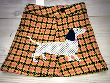 Mini Boden skirt check dogs 3-4 years