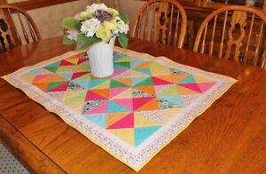 Springtime Bunnies & Jellybeans Handmade Table Quilt
