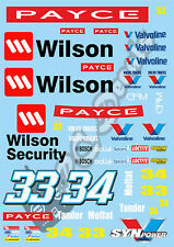 1/10 Touring Car decalcomania Sticker Set Wilson Security-a raggi X PR RACING Schumacher