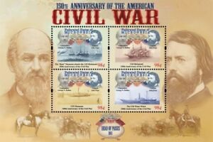 Micronesia- American Civil War 150th Anniv. Head of Passes Sheet of 4