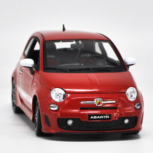 Bburago Red Abarth 2008 Fiat 500 by  1/24 Scale Diecast Cars Model Collection