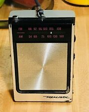 Vintage Realistic AM/FM Transistor Radio Works Great Model 12-662 Radio Shack