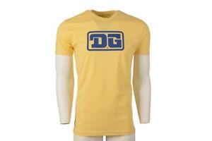 DG MX T Shirt, DG Rectangle Logo, Yellow ,Size:  Xtra Large, Authentic