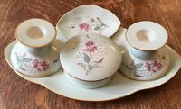 Vintage 5 Piece Carlton Ware Dressing Table Set - Mint Green -1940/50's