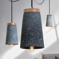 Modern Pendant Timber Top Cable Ceiling Lamp Retro Concrete Drop Light  L