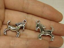 15 horse charm pendant antique tibetan silver style wholesale craft
