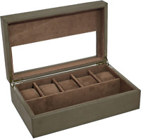 AVI-8 AV-CBOX-02 Collector's Box Leather Synthetic Watch Case