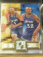 ANFERNEE HARDAWAY / SHAQUILLE O'NEAL 1995-96 NBA HOOPS HEAD 2 HEAD HH6 HOT HOT