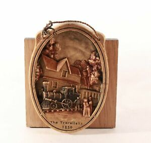 """Ivorex Wall Plaque """"The Travelers 1850"""" - 3D Wall Decor"""
