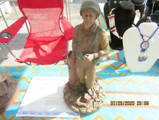 """World War Ii Soldier.With Coa. Tom Clark Artist Clay Scultture"