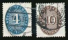 D.Reich Dienst Nr. 130-131 gestempelt,  Strohhutmuster 1933 (66366)