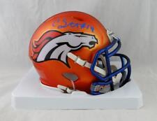 Courtland Sutton Autographed Denver Broncos Blaze Mini Helmet - JSA W Auth *Blue