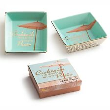 Patio Party Porcelain Tray Dish Gift Boxed