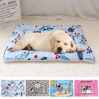 Dog Cat Bed Mat Soft Crate Kennel Pad Warm Fleece Sleeping Blanket Indoor Bed