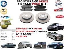 Para Chrysler 300C Familiar TOURING DISCOS FRENO DELANTERO Set + pastillas Kit