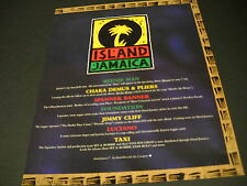 Island Jamaica 1995 Promo Ad Beenie Man Taxi Jimmy Cliff Spanner Banner Luciano