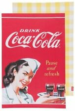 Coca-Cola Waitress Dish towel 2 piece  Set