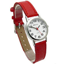 Ravel Ladies Super-Clear Easy Read Quartz Watch Red Strap R0105.10.2A