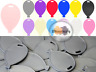 BALLOON SHAPE PLASTIC WEIGHTS LATEX BALLOONS 12 COLOURS TO CHOOSE FOR HELIUM UK
