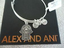 Alex and Ani Hand of Fatima III Bangle Bracelet Rafaelian Silver Expandable