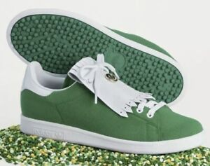 Adidas Stan Smith Primegreen Limited Masters Edition Spikeless Golf Shoes Sz 15
