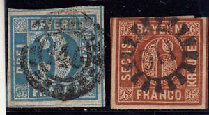Altdeutschland // Bayern Quadrat lot  gestempelt