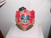 Very RARE Vtg. Creepy Halloween Crying Clown Mask  Evil Scary