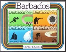 AT124 BARBADOS 1984 Summer Olympics S/S MINT NH