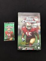 2009 Topps Chrome Hobby Football Pack 🔥Possible Brady Refractor/Stafford Rookie