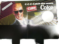 Coca-Cola Catch the Wave Max Headroom  Cardboard Sign- Vintage Classic