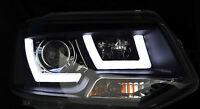 "LED DRL BLACK HEADLAMPS ""EAGLE EYE"" HEADLIGHTS FOR VW VOLKSWAGEN T5 CARAVELLE"