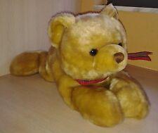 "Plush Golden Brown Teddy Bear 15"" by RBI"