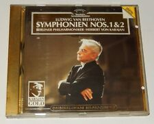 CD Ludwig Van BEETHOVEN : SYMPHONIEN Nos 1 & 2 - Herbert Von KARAJAN  - 1985