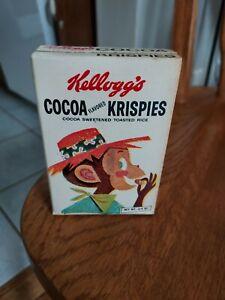 Vintage 1959 KELLOGG'S Sample Single Serve Cereal Box COCOA KRISPIES (Empty)