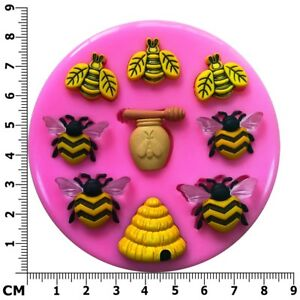 Bee Keeper, Honey Bee, Bee Hive, Honey Pot Silicone Mould - Fairie Blessings