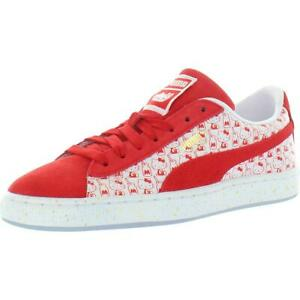 Puma Girls Suede Classic X Hello Kitty Red Fashion Sneakers Shoes BHFO 8920