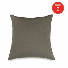 Majestic Home Goods Wales Collection Pillow, X-Large, Gray (Pack of 2)