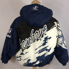 Vintage 90s Pro Line Nfl Dallas Cowboys Coat Jacket Puff Puffer Xl Splash Script