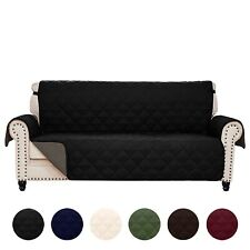 Reversible Quilted Microfiber Slipcover Sofa Couch Furniture Pet Protector Cover