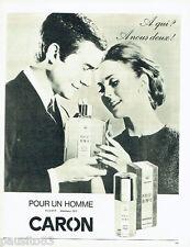 PUBLICITE ADVERTISING 056  1965  Caron  parfum atomiseur Pour un Homme
