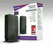 NETGEAR C3700-100NAS N600 Wi-Fi Cable Modem Router Up to 600 Mbps • New/Sealed