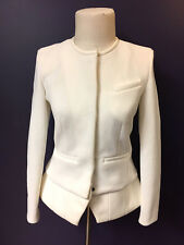 New IRO Cream-White Nylon-Blend Lambskin Leather Accents 'CLYDE' Jacket Sz36/4