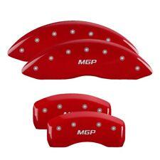 Mgp Caliper Covers 23197smgprd Set Of 4 Red Finish Silver Mgp