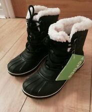 BRAND NEW Black Crocs Size 3 2 Allcast II Lady Snow Winter Ankle Boot rrp £89.99